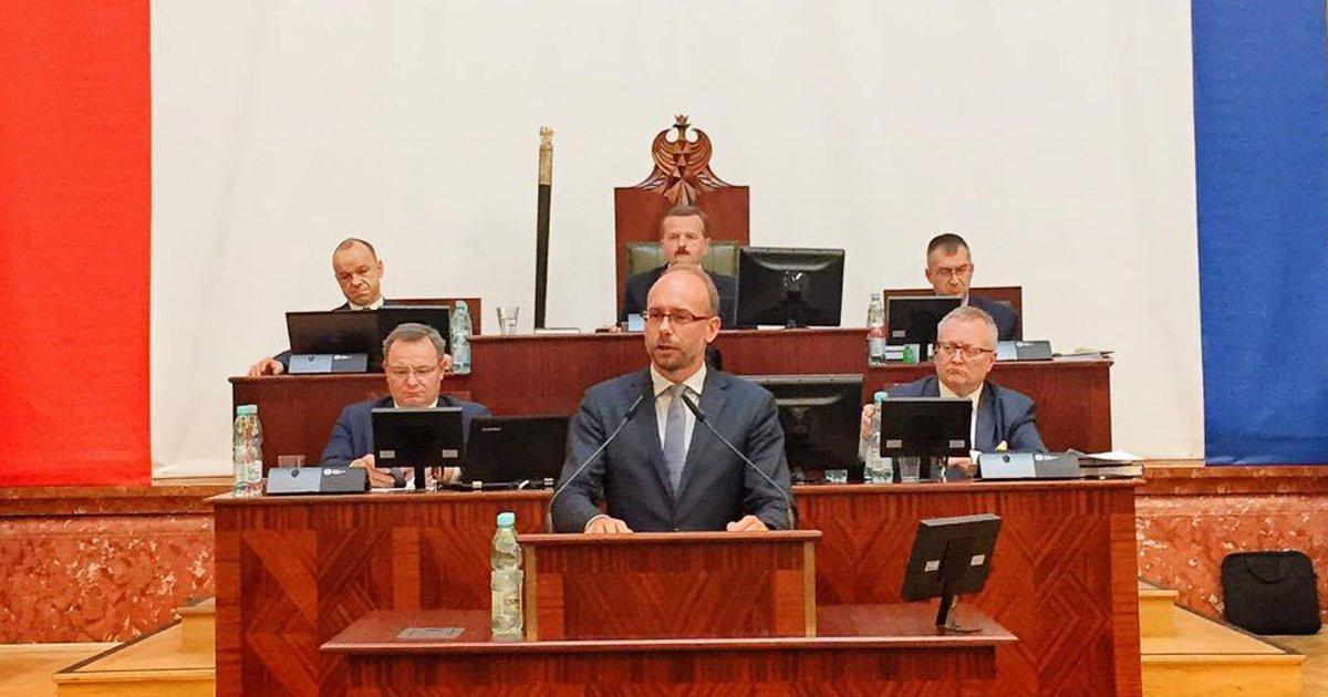 Jerzy Gorzelik przemawia