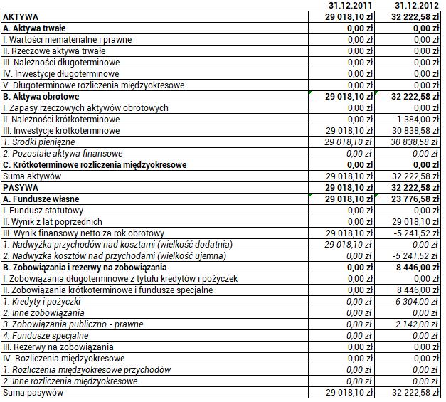 Ruch Autonomii Śląska - bilans za rok 2012