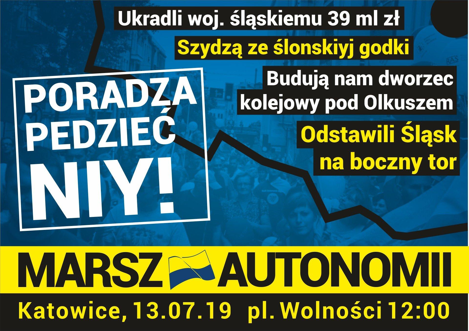 Oficjalny plakat 13. Marszu Autonomii
