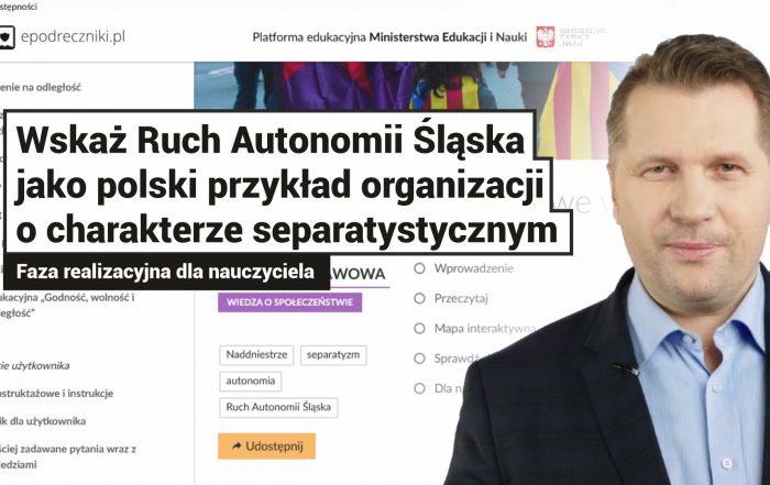 Portal epodreczniki.pl oskarża RAŚ o separatyzm